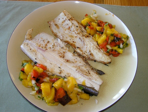 trout and mango salsa