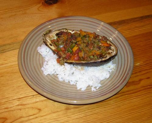 stuffed eggplant plate