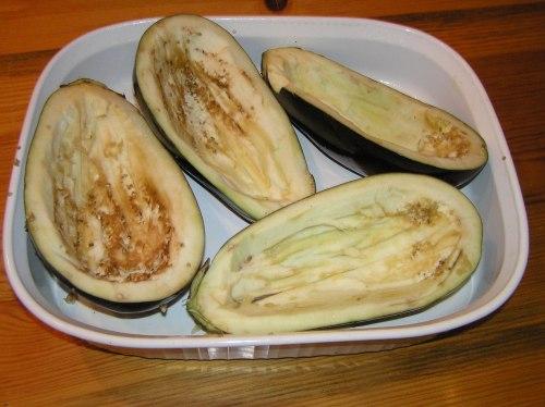 stuffed eggplant shells
