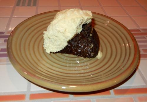 chocolate pumpkin cake piece