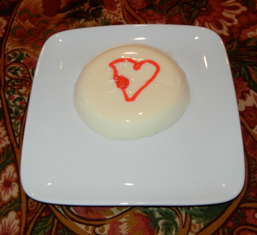 panna cotta with gel