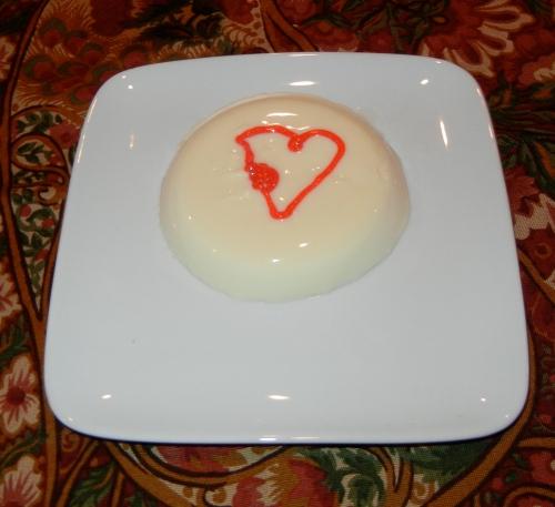 panna cotta with gel